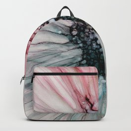 Magenta Aqua Bursting Abstract Flower Backpack