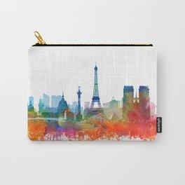 Paris City Skyline Watercolor by Zouzounio Art Carry-All Pouch