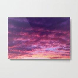 Pink Purple Sunset Metal Print