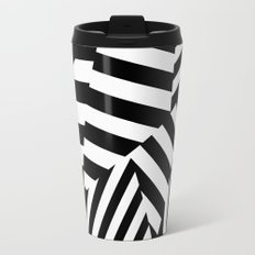 RADAR/ASDIC Black and White Graphic Dazzle Camouflage Travel Mug