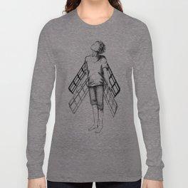 boy draws wings mk-II Long Sleeve T-shirt