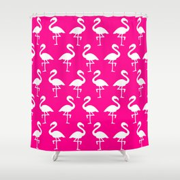 Hot Pink Flamingos Shower Curtain