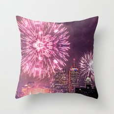 Boston, MA  July 4th Pops Fireworks Spectacular Throw Pillow