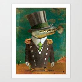 Circus-Circus: What a Croc Art Print