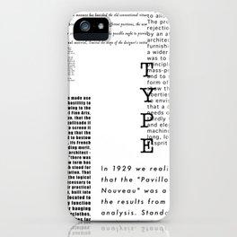 Type - Le Corbusier, Pavilion L'Esprit Nouveau iPhone Case