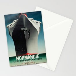 Vintage poster - Normandie Stationery Cards