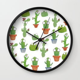 Cute Cacti Wall Clock
