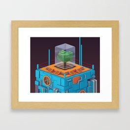 The Blue Tower (closeup) Framed Art Print