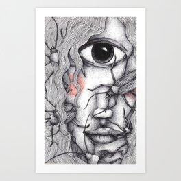 Cyclops Girl  Art Print