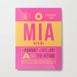Luggage Tag B - MIA Miami USA Metal Print