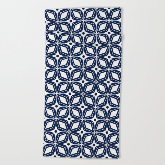 Starburst - Navy Beach Towel