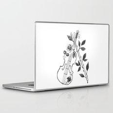 Violin, black and white Laptop & iPad Skin