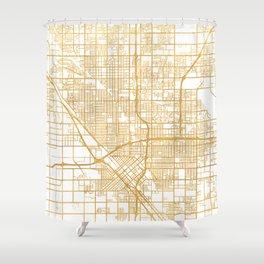 FRESNO CALIFORNIA CITY STREET MAP ART Shower Curtain