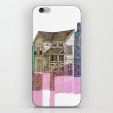 glitch house illustration iPhone & iPod Skin
