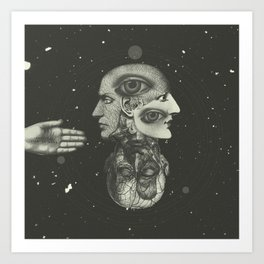 COSMIC ANATOMY  Art Print
