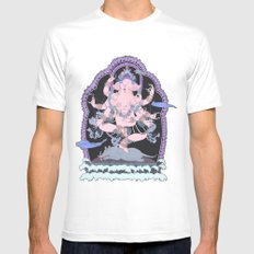 Long Lines Block the Path to Enlightenment Mens Fitted Tee White MEDIUM