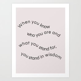 Knowing Art Print