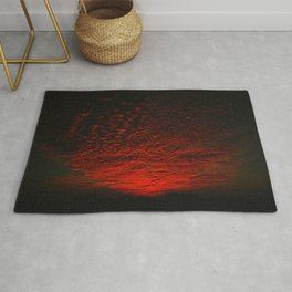 Gorgeous red skies, clouds, and sky at sunset Rug
