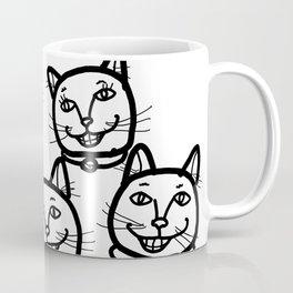 Happy Cheery Smiling Cats Coffee Mug
