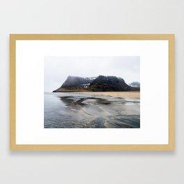 water in iceland Framed Art Print