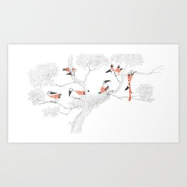 """""""Counting Crows"""" book cover illustration Art Print"""