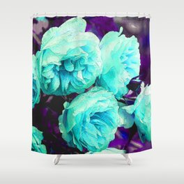 Light blue Rose Kathryn Shower Curtain