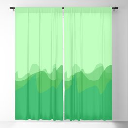 Wave pattern nature abstraction (green) Blackout Curtain