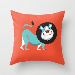 Evan the lion Throw Pillow