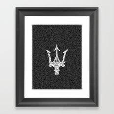 Homage to Maserati Framed Art Print