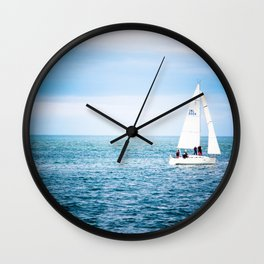 Howth sailboat Wall Clock
