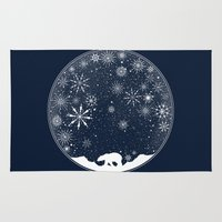 globe Area & Throw Rugs featuring Snow Globe by Tobe Fonseca