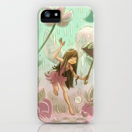 Goblins Drool, Fairies Rule! - Dewdrop Shower iPhone Case