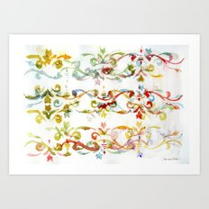 Arabesque pattern Art Print