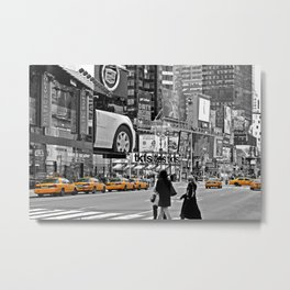 NYC - Yellow Cabs - Times Square Metal Print