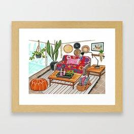 boho dream house Framed Art Print