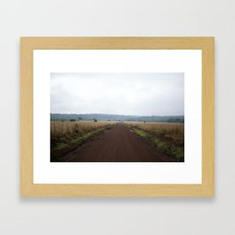 Lonely African Road Framed Art Print