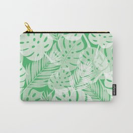 Tropical Shadows - Vibrant Green / White Carry-All Pouch