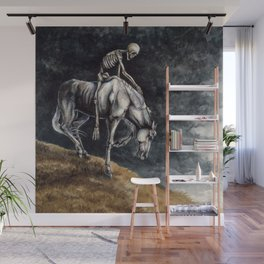 Skeleton Riding a Pale Horse Wall Mural