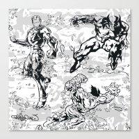 comics Canvas Prints featuring Comics by Burg