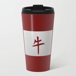 Chinese zodiac sign Ox red Travel Mug