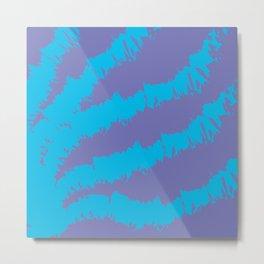 Blue-Purple Pattern Metal Print