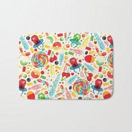 Candy Pattern - White Bath Mat