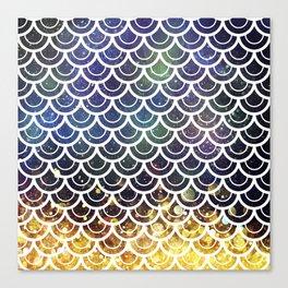 Mermaid Scales Deep Sea Sparkle Canvas Print