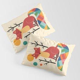 Rainbow Fox Pillow Sham