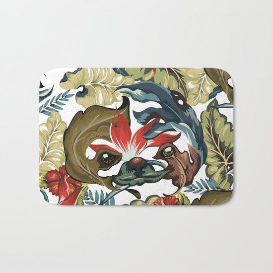 Tropical Sloth Bath Mat