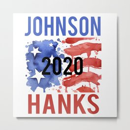 Johnson Hanks Flag 2020 Metal Print