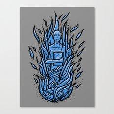 fahrenheit 451 - bradbury blue variant Canvas Print