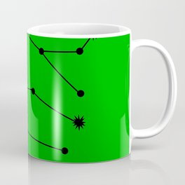 GEMINI (BLACK-GREEN STAR SIGN) Coffee Mug