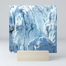Majestic Blue Snow & Ice Alaskan Glacier Scenic Mini Art Print