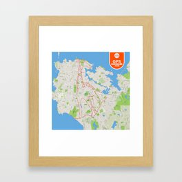It's a zoo out there Framed Art Print